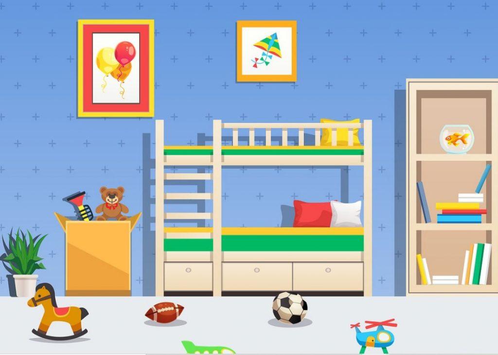 våningssäng i barnrum